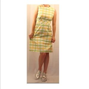 MOD Vintage Shift Dress Checkered Cotton 1960s